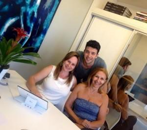 Visitas a PerSolutio: Viviane Martini, Silvia Bonome e Gabriel Garefa