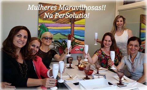Visitas a PerSolutio: Cris Bovi, Silvia Bonome, Susy Lemos, Viviane Martini, Paula Martucci e Cristina Salomão