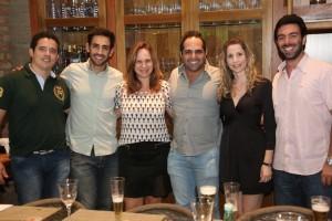 Marcelo Moreti, Lucas Castanheira, Viviane Martini, Gustavo Murilo, Paula Martucci e Guilherme Abud