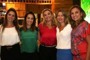 Janaina Capelo, Rosi Pane, Fátima Brandani, Dani Trovo e Cristine Bovi